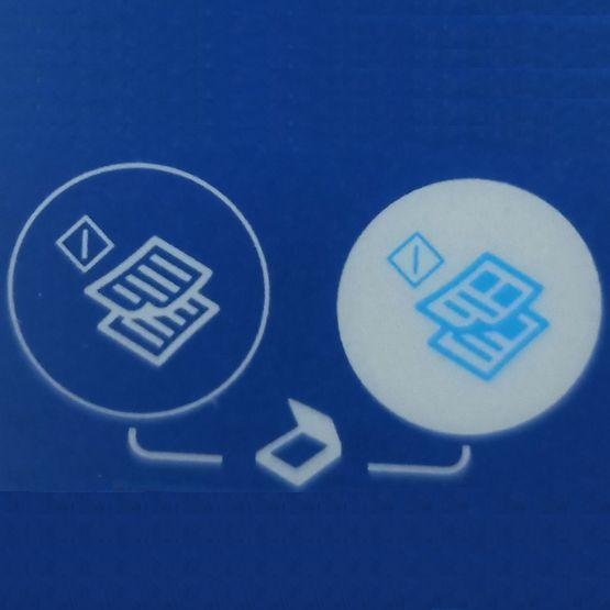 Значок кнопка на принтере с листами бумаги