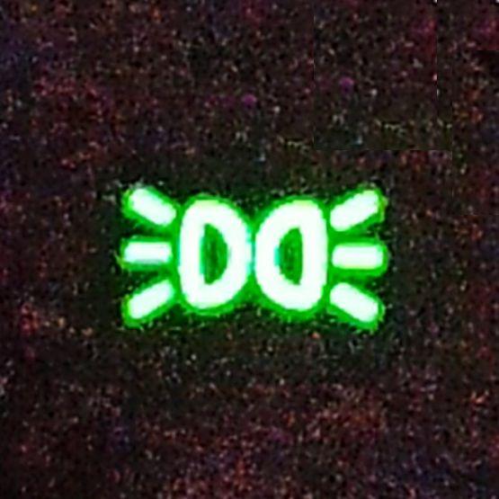 Габаритные огни - значок фары с расходящимися лучами