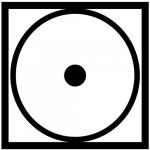 точка в кружке в квадрате