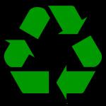 Символ треугольник из трёх стрелок, обозначение - переработка