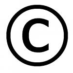 Значок с в кружочке - копирайт, защита авторских прав