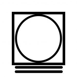 Символ на ярлыке – контур квадрата с вписанным кругом и двумя горизонтальными линиями снизу – машинная сушка с деликатным режимом