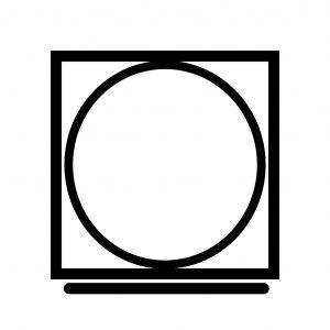 Символ на ярлыке – вписанный в контур квадрата круг с горизонтальной линей снизу – машинная сушка со щадящим режимом