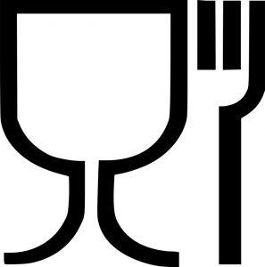 Что обозначает знак стакан и вилка