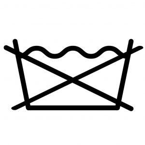 Символ на ярлыке – перечёркнутое корыто с водой