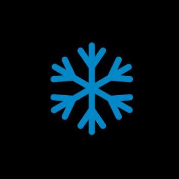 Синяя снежинка - индикатор отрицательной температуры