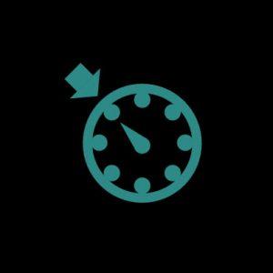 Зеленый спидометр со стрелкой - круиз-контроль