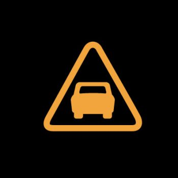 Желтая машина в треугольнике - опасное сближение