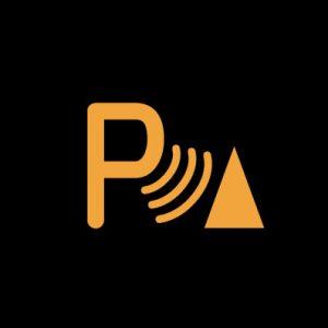 Желтая большая буква «Р» с волнами и треугольником - неисправная система помощи при парковке