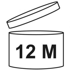 Открытая баночка с цифрой и буквой М
