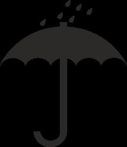 символ значок зонт с каплями дождя