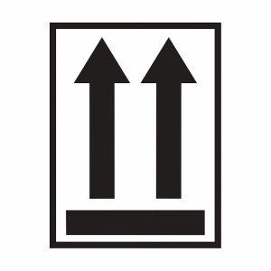 Две стрелки направленные вверх и горизонтальная черта