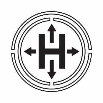 Буква Н и четыре стрелки внутри круга
