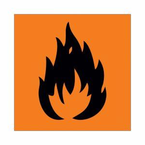 значок символ пламя на жёлтом фоне