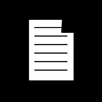 Лист бумаги со строчками и загнутым верхним правым уголком