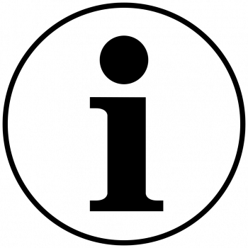 Значок буква i в круге